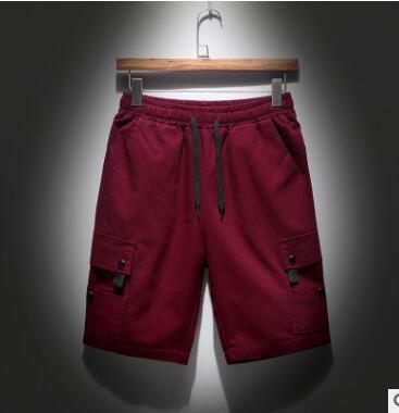 XHS36 Direct Sale Teenage Short Pants New Summer Pure Color Men's Slim Shorts Men's Casual Pants