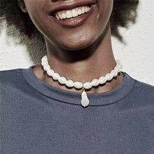 Женское Ожерелье с искусственным жемчугом luokey винтажное ожерелье