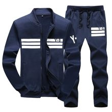 Tamanho grande 7xl 8xl 9xl ternos esportivos masculinos duas peças jaquetas sweatpants define masculino casual roupas de treino esportivas marca