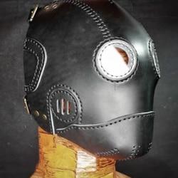 Стимпанк ручная работа полуфабрикаты Маска пламени кожаный материал сумка кожаный шаблон ручной работы Кожа ремесло принадлежности