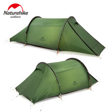Naturehike New Tunnel Camping Tent 2-person 20D Waterproof Outdoor 4-Season Travel Tent One Room 2.6kg Ultralight Portable Tent