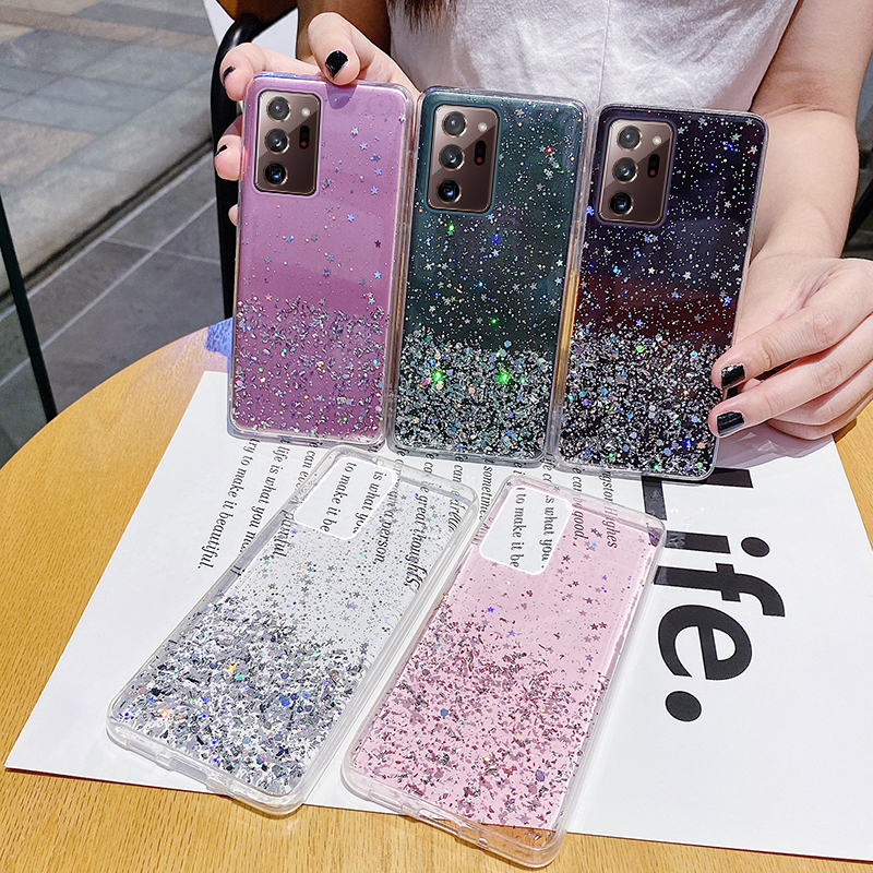 Luxury Cute Bling Glitter Silicone Phone Case For Samsung Galaxy S21 S20 FE S10 S9 Note 20 10 9 8 Plus A51 A71 Ultra-Thin Cover