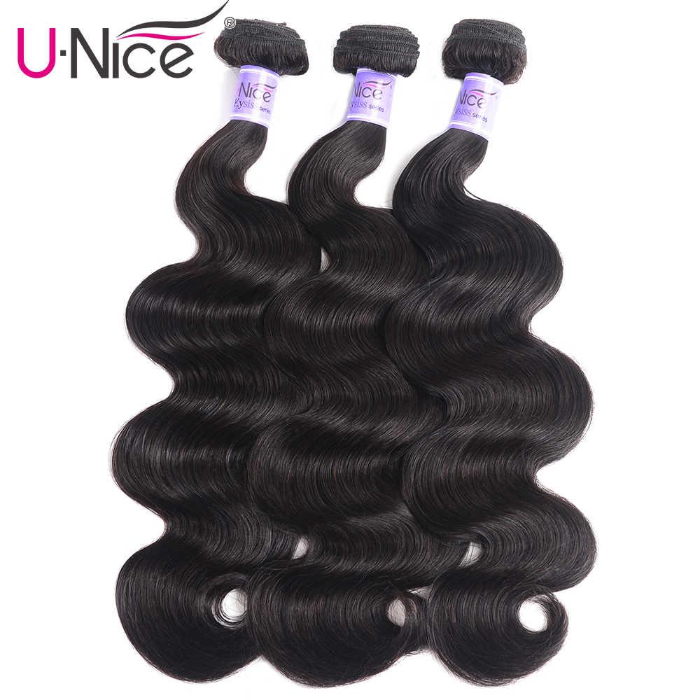 "UNice Hair Kysiss Virgin Series 4 Bundles 8A Peruvian Body Wave Hair Extension 8-30"" 100% Human Hair Weaves Body Wave Bundles"