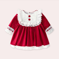 2019 Dress New Style Western Style Children Shirt Baby Girls a Year of Age Dress Girls Palace Style Princess Spring