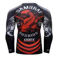 Camiseta MMA para hombre rashguard jiu jitsu bjj manga larga Camiseta Fitness Muay Thai deporte boxeo suéter mma rashguard boxeo Jersey