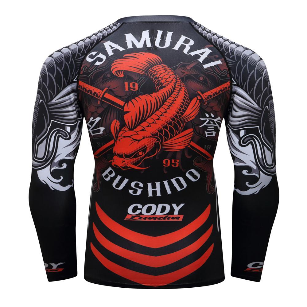 MMA T Shirt Mens Rashguard Jiu Jitsu Bjj T Shirt Long Sleeve Fitness Muay Thai Boxing Sport Sweater Mma Rashguard Boxing Jersey