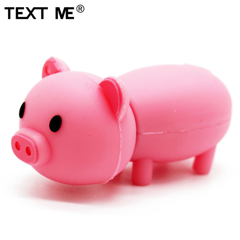 TEXT ME 64GB 4 Colour Cute Pig Nodel Usb Flash Drive Usb 2.0 4GB 8GB 16GB 32GB  Pen Drive