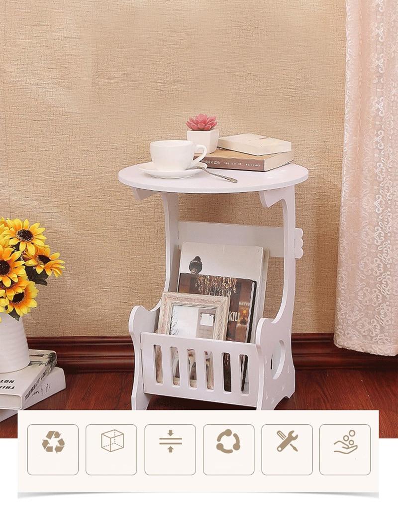 Креативный современный круглый кофейный столик стол для чая стол Basse журнальный стеллаж центральный стол
