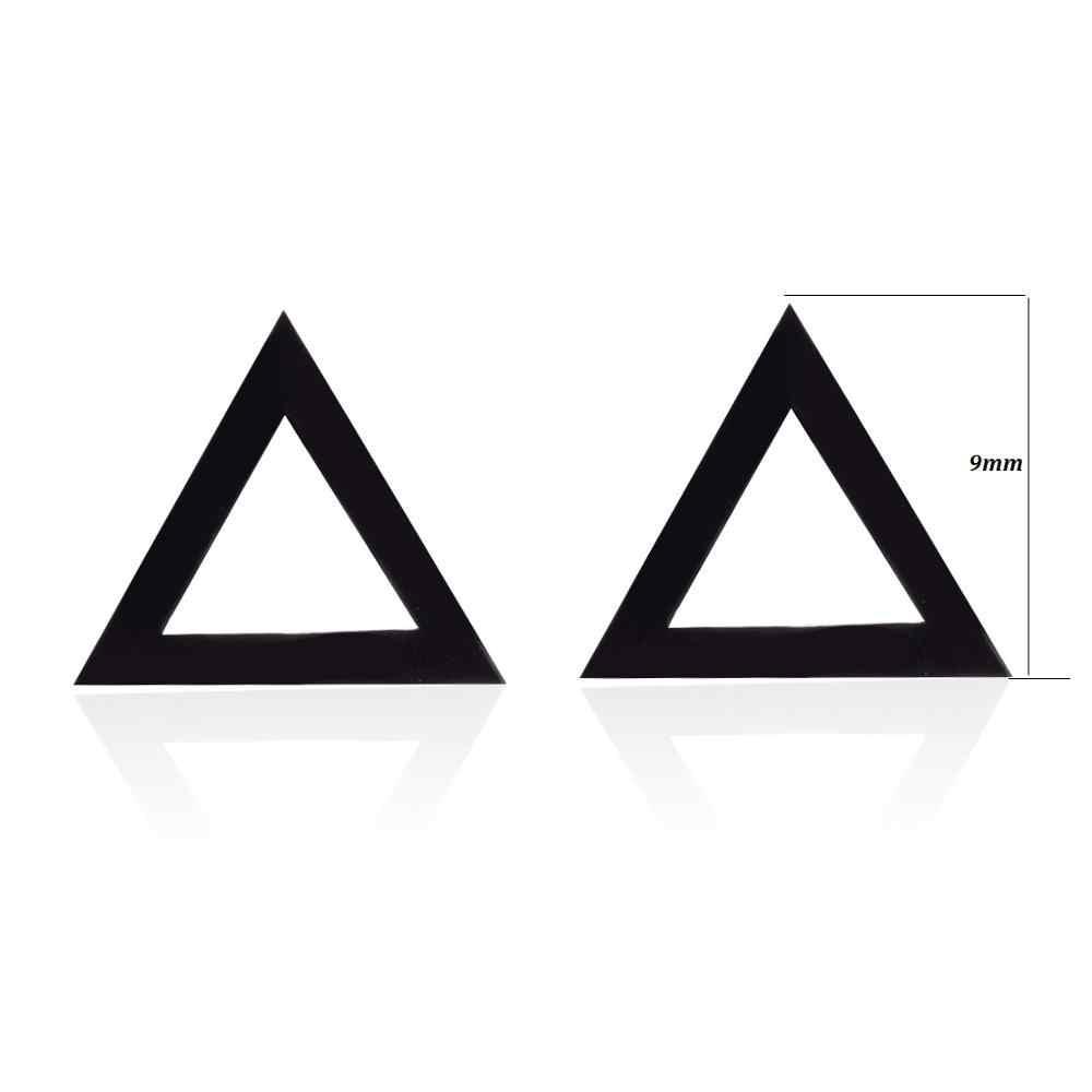 Женские серьги-гвоздики из нержавеющей стали, минималистичные круглые серьги с черным сердцем и звездой, аксессуары в стиле панк, подарки
