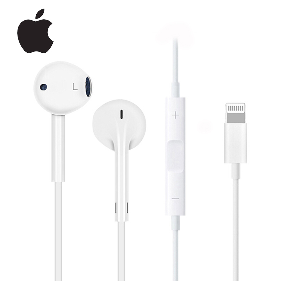 original <font><b>Apple</b></font> Earpods <font><b>Lightning</b></font> & 3.5mm Plug In-ear Earphones Sport Earbuds Deep Richer Bass Headset For iPhone/iPad Android image
