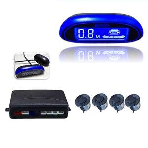 Car Accessories Parktronic Parking Sensor Sensor De Estacionamento Parking Sensor Reverse 4 Sensors Led Display Radar Monitor