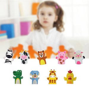 Non-Woven Fabric Diy Hand Puppet Parent-Child Game Toys Educational Toys Animals Crafts Kindergarten Handmade Materials