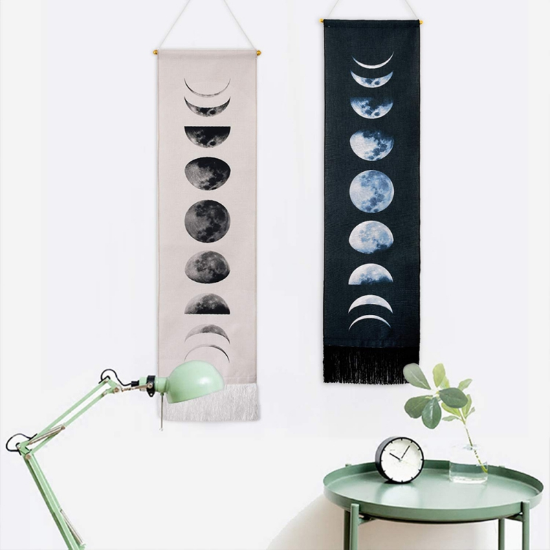 Nine Phases Of The Full Growth Cycle Of The Moon Wall Hanging Tapestry Wall Art Modern Home Decor Tapestry Tapestries 2020
