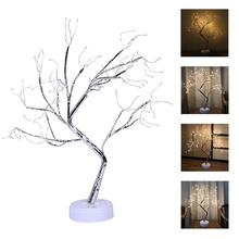 LED firefly Christmas tree night light with USB charging gift for children's fairy lights family party wedding room