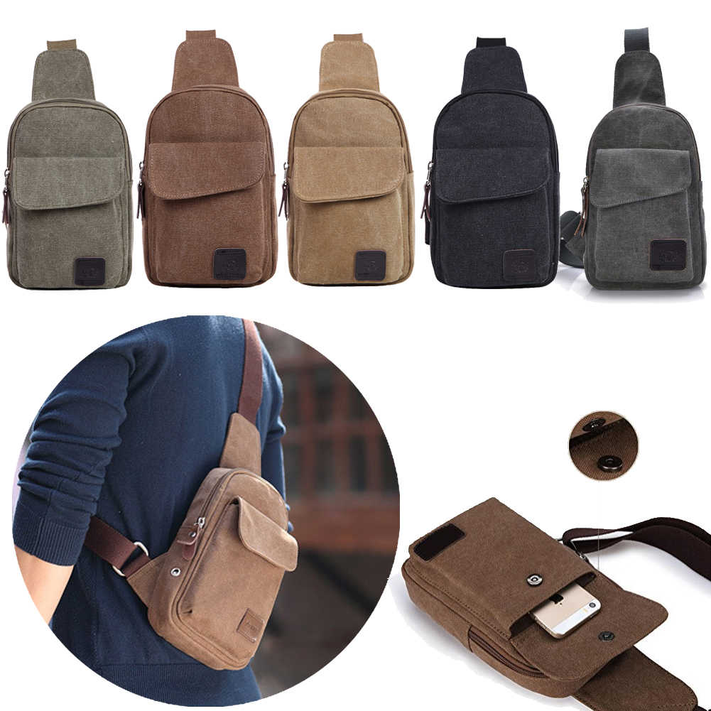 Men Women Shoulder Bag Sling Chest Pack USB Charging Sports Crossbody Handbag Fashion Chest Bags Waist bags
