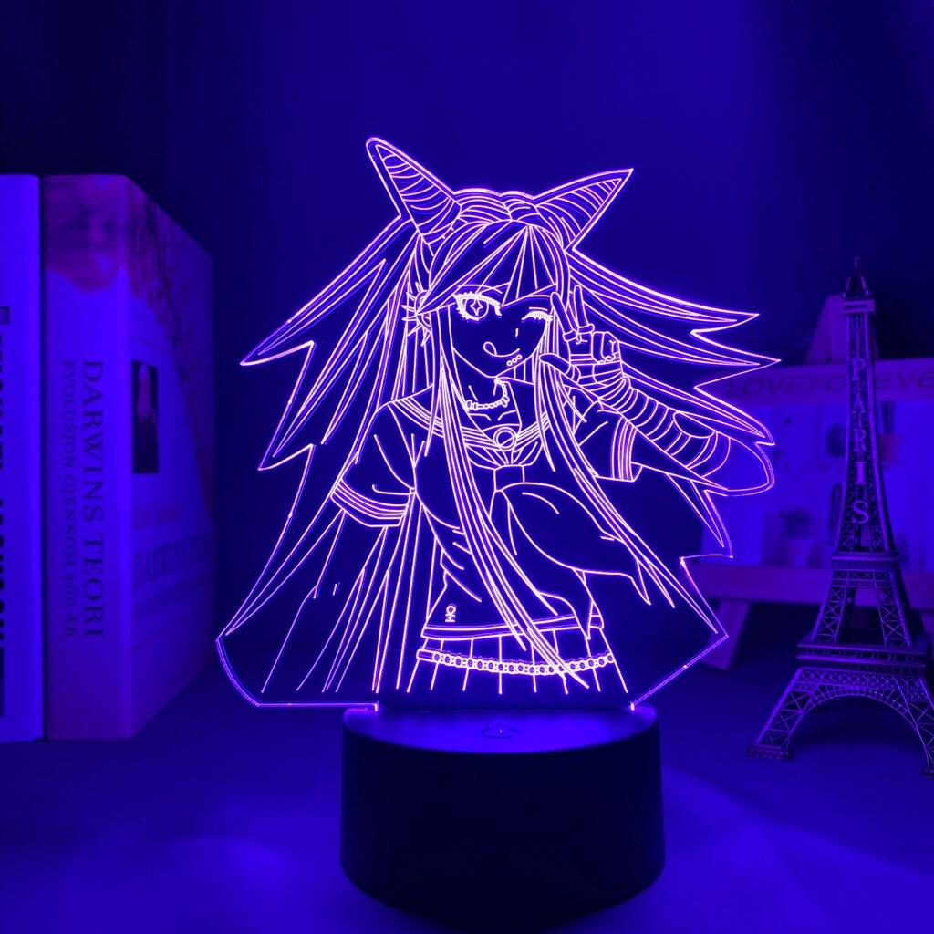 Danganronpa led night light ibuki mioda lâmpada para decoração do quarto crianças presente danganronpa acrílico 3d lâmpada ibuki mioda