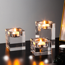 Nordic Transparent Crystal Glass Candle Holders Glass Candlesticks Wedding Table Centerpieces for Home desktop Decor Art Gift