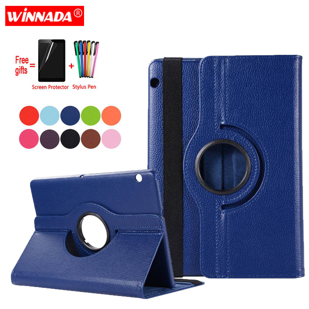 Case For Huawei T5 10 AGS2-W09 AGS2-W19 AGS2-L09 L03 coque Leather Cover for Huawei MediaPad T3 10 AGS-W09 L09 L03 Case Film Pen