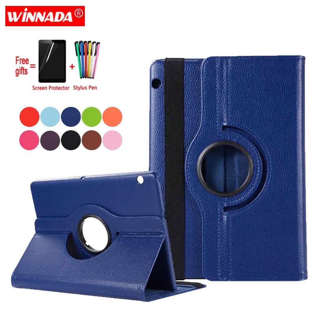 Huawei T5 용 케이스 10 AGS2-W09 AGS2-W19 AGS2-L09 L03 화웨이 MediaPad T3 용 coque 가죽 커버 10 AGS-W09 L09 L03 케이스 + 필름 + 펜