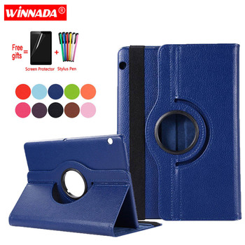 Sprawa dla Huawei T5 10 AGS2-W09 AGS2-W19 AGS2-L09 L03 coque skórzana pokrywa dla Huawei MediaPad T3 10 AGS-W09 L09 L03 sprawa + Film + długopis