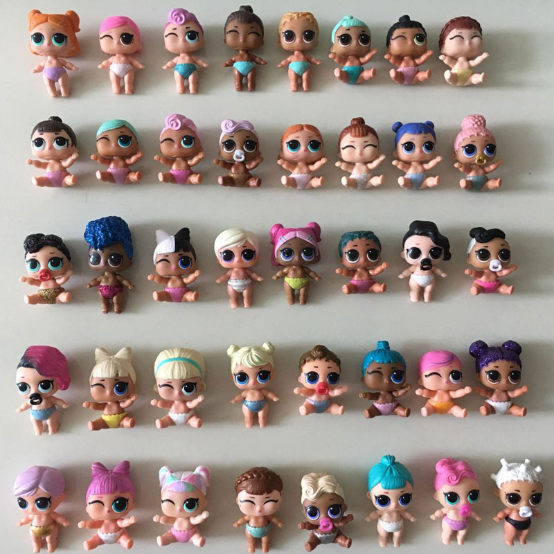 5Pcs Sisters 4cm Baby Lil Girl Boy Dolls High Quality Can Change Color Little Sister Doll Kid Play Toy Guests Gifts For Children