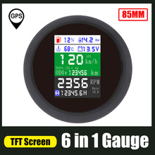 6 в 1 Тахометр GPS Спидометр датчик уровня топлива для подвесного бортового дизельного двигателя 85 мм Тахометр масляный измеритель давления