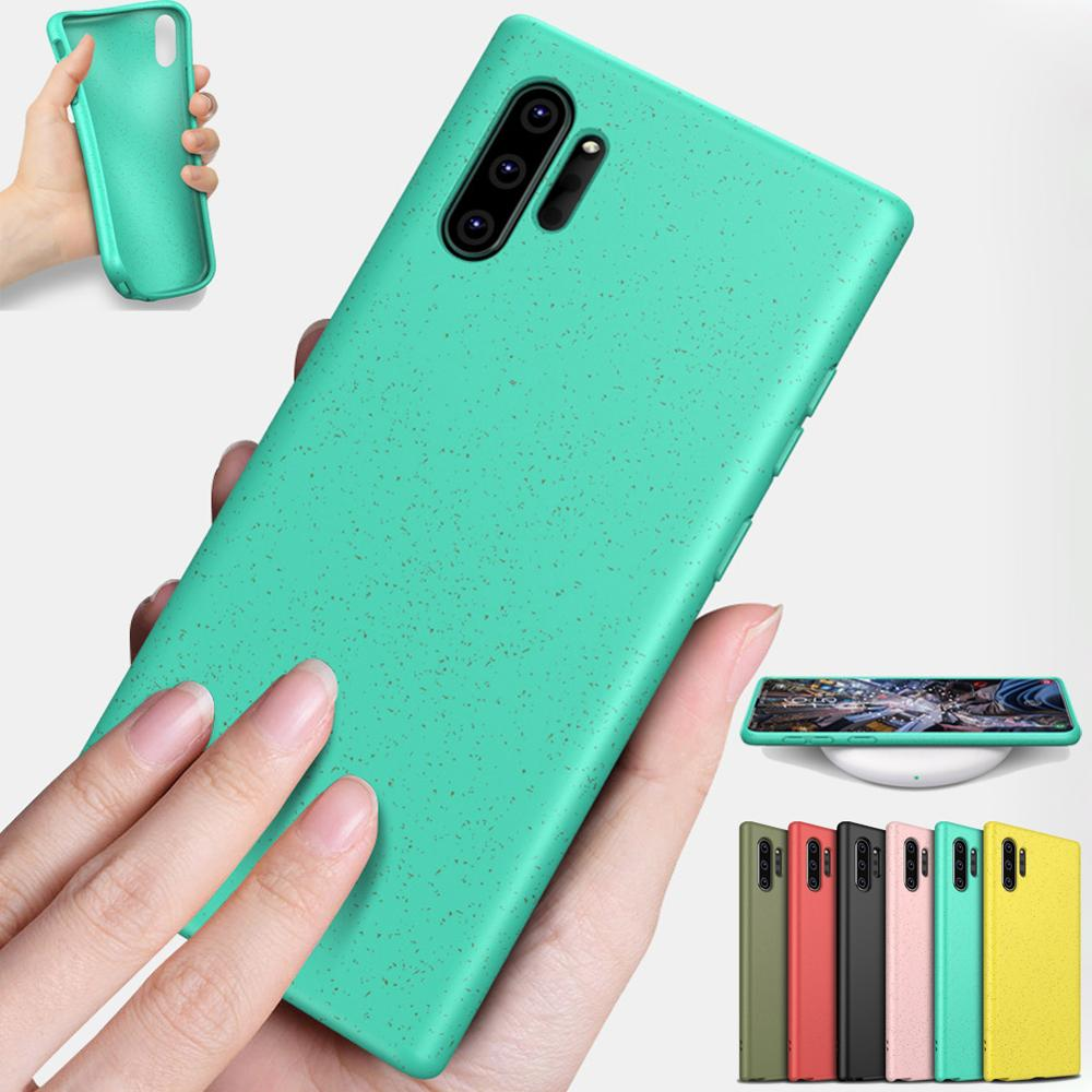 Note 10 Pro Wheat Straw Case For Samsung Galaxy Note 10 Silicone Note 10+ Candy Color Case For Samsung S10 Plus S10 E Funda Case