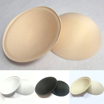 1 Pair Bra Sponge Pads Sponge Swimsuit Padding Inserts Breast Pads Soft Round Bikini Bra Insert Chest Cup Intimates Accessories image