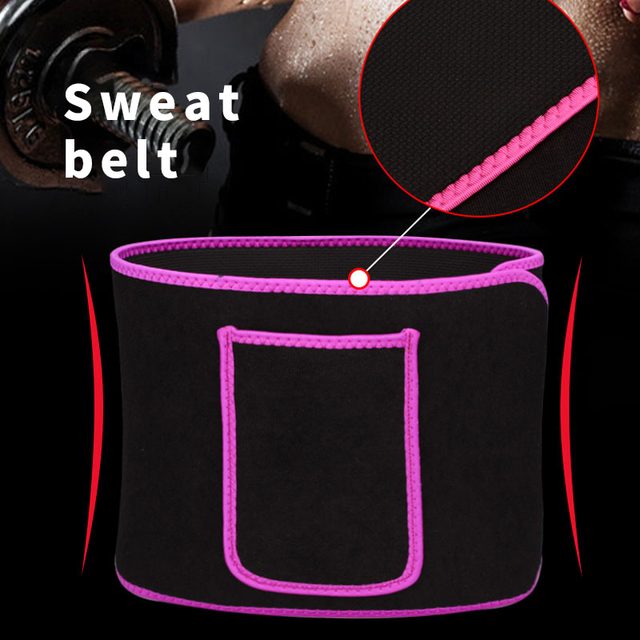 Sweat Waist Trainer Corset Trimmer Belt for Women Weight Loss with Comfortable Phone Pocket M