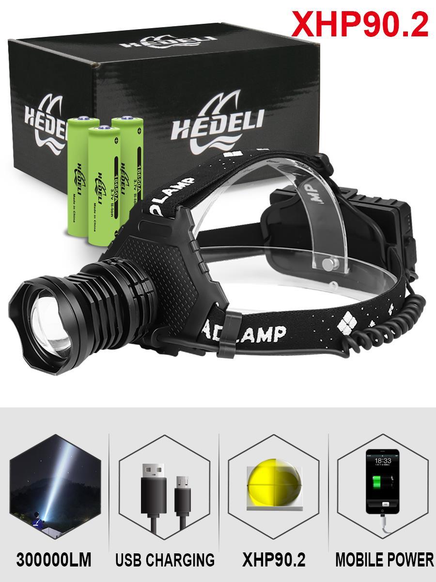 300000 Glare Xhp90.2 Led Headlight Xhp90 High Power Head Lamp Torch Usb 18650 Rechargeable Xhp70 Head Light Xhp50 Zoom Headlamp