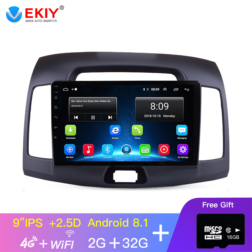 EKIY 9 ''2.5D IPS Android Auto Radio Multimedia Für <font><b>Hyundai</b></font> <font><b>Elantra</b></font> 2007 2008 2009 <font><b>2010</b></font> 2011 GPS Navigation Auto video 4G Player image