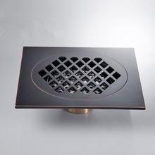 Напольный слив черный 15 × см квадратный Слив для ванной комнаты