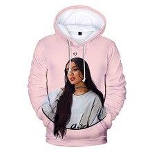Pink Hooded 3D Ariana Grande Hoodies Sweatshirts Women Men H