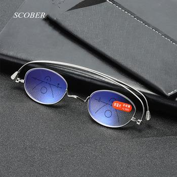15g Ultralight Progressive multifocal anti-niebieskie okulary do czytania mężczyźni smart zoom okulary do czytania kobiety daleko w pobliżu okulary do czytania tanie i dobre opinie SCOBER WOMEN Unisex WHITE Antyrefleksyjną RG0134 3 1cm Z poliwęglanu 4 3cm Stop