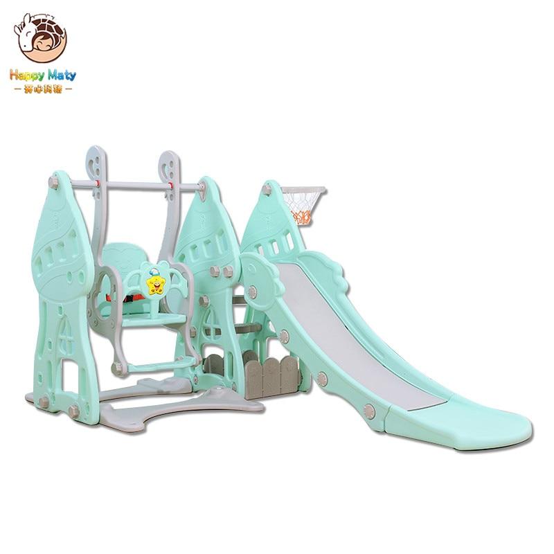 Slide swing basketball box combination children indoor home kindergarten baby playground small children multifunctional toys(China)