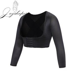 Image 1 - Joyshaper Frauen Compression Arm Abnehmen Former Haltung Corrector Crop Top Langarm Shapewear Zurück Schulter Brace Unterstützung Neue