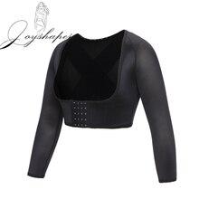 Joyshaper femmes Compression bras minceur Shaper Posture correcteur haut court à manches longues Shapewear dos épaule orthèse soutien nouveau