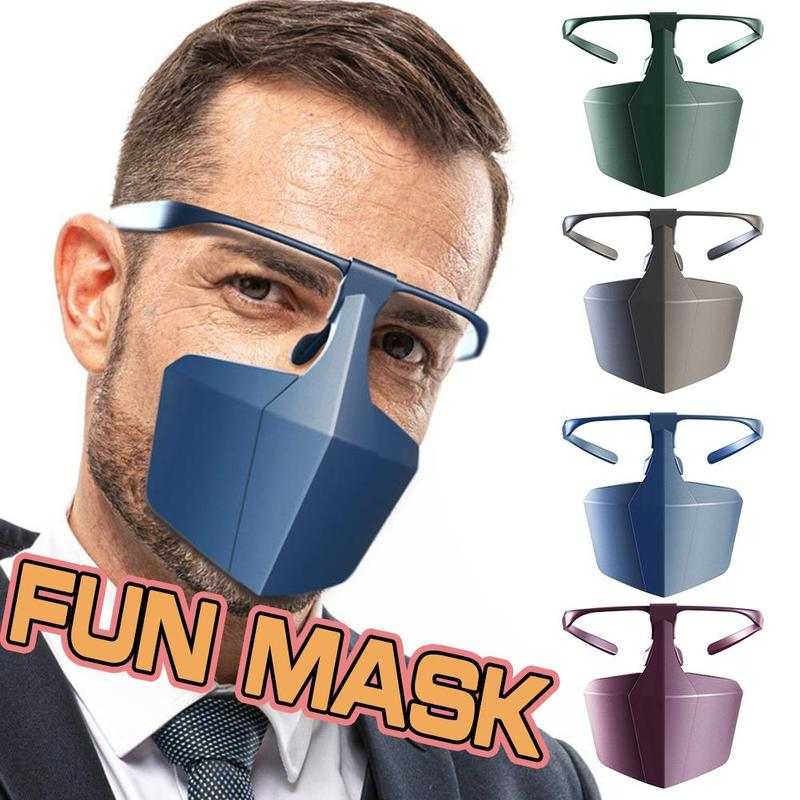 Kz Antiviral Face Shield Isolated Mask Plastic Anti-fog Seal Breathable Full Mouth Hood Anti Bacterial Masks Protective Supplies
