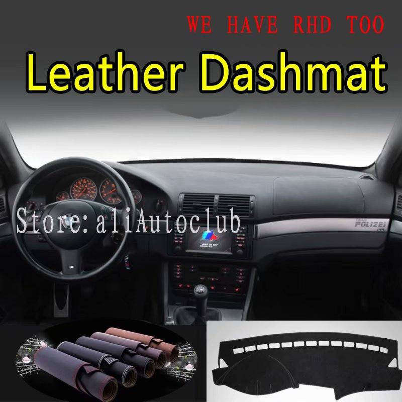 For BMW 5 Series E39 525D 530d 250i 235i 523 528 Leather Dashmat Car Styling Covers Dash Mat Dashboard Cover Carpet  Accessories