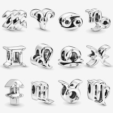 New Moments Charms 925 Sterling Silver Zodiac & Celestial Charm Fit Original European Bracelet Women Fine Jewelry Accessories