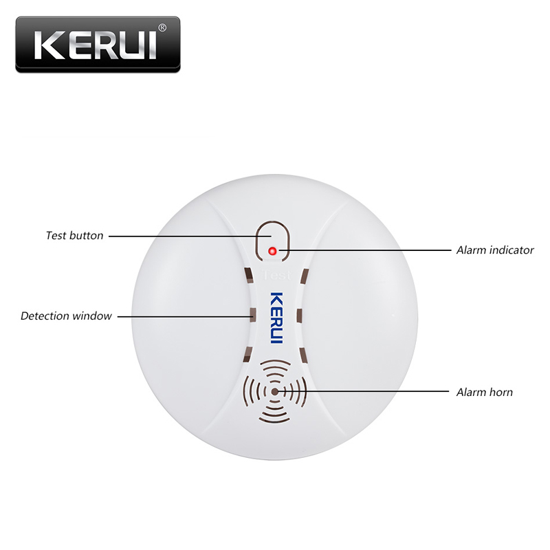 Ultimate SaleKERUI Detectors Alarm-System Sensors-Kits Smoke-Fire Wireless Wifi 433mhz Home-Security