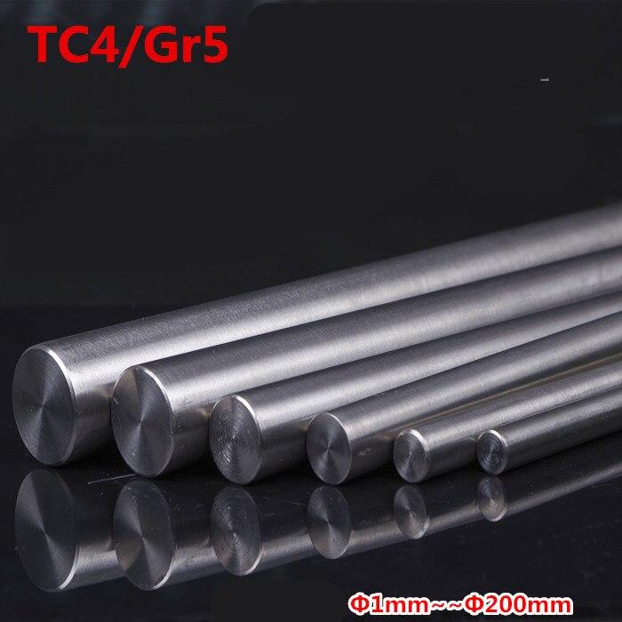 4pc/lot Length 250mm TC4 Titanium Ti Bar Grade GR5 Metal Rod Diameter 1/2/3/4/5/6/7/8/9/10mm For Manufacturing Gas Aerospace