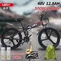LAFLY X-2 (ЕС у нас запасы) Электрический велосипед 48V12.8A, фара для электровелосипеда в Алюминий 250 Вт мотор 500W 1000 Вт Мощный электрический велосип...