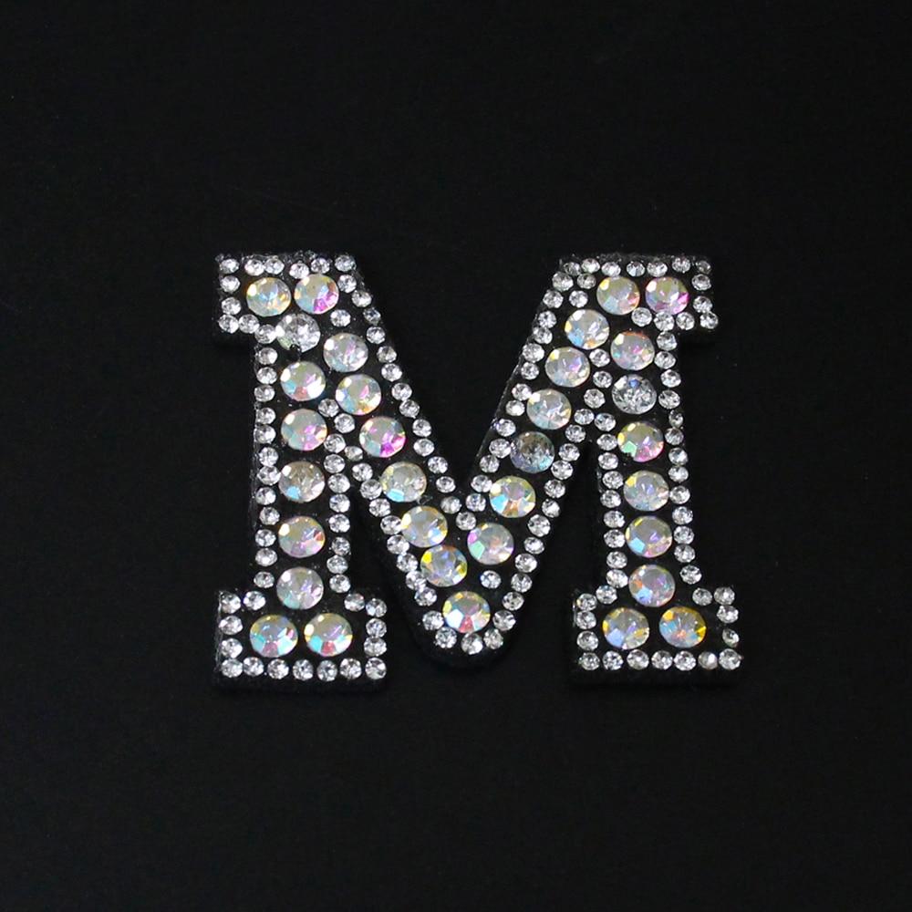 26 шт. 2-5,2*4,5 см буквы алфавита нашивки пришить стразы Алмазная нашивка для предметы одежды, шляпы, сумки аппликация, наклейка DIY аксессуары