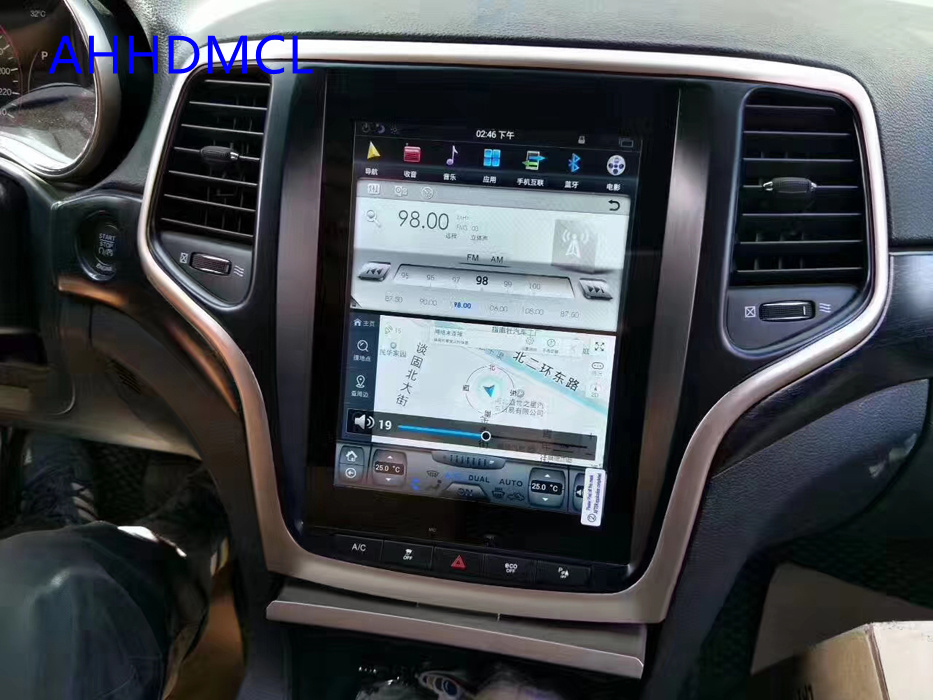 Tesla Style Multimedia Player Android Car Stereo GPS Automobile PC PAD For Grand Cherokee 2014 2015 2016 2017 2018 2019 image
