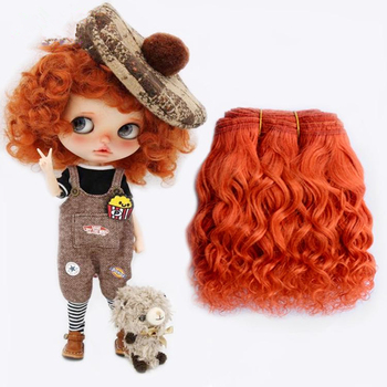 1 pieces 15*100cm  Wool Hair Wefts for BJD/SD/Blyth/Russian hand Dolls Curly Hair Extensions DIY Doll Wigs Hair Doll Accessories 1 pieces 15 100cm wool hair wefts for bjd sd blyth russian hand dolls curly hair extensions diy doll wigs hair doll accessories