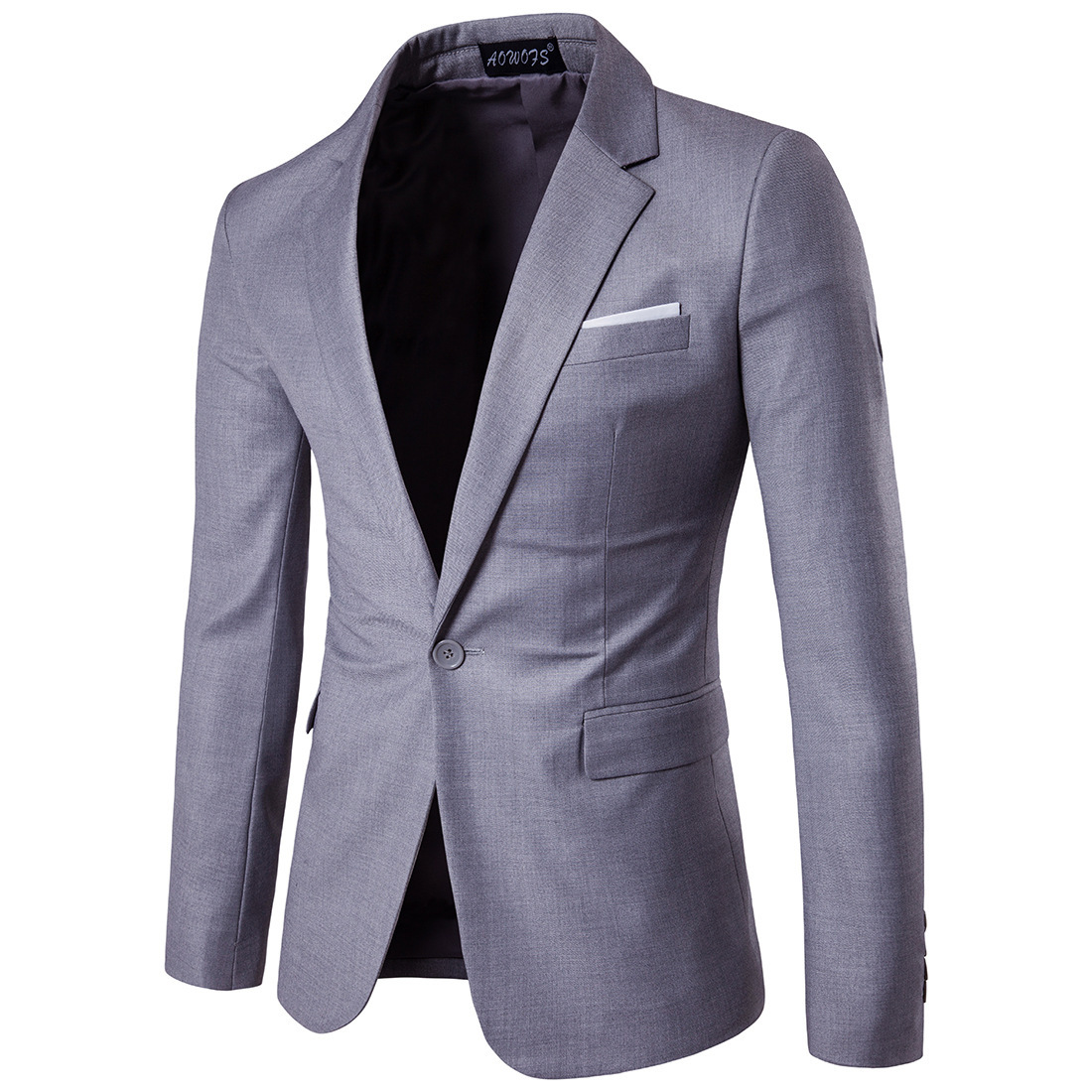 2019 Business Leisure Suit Lang Best Man Wedding One-Button Suit Jacket MEN'S Wear Large Size