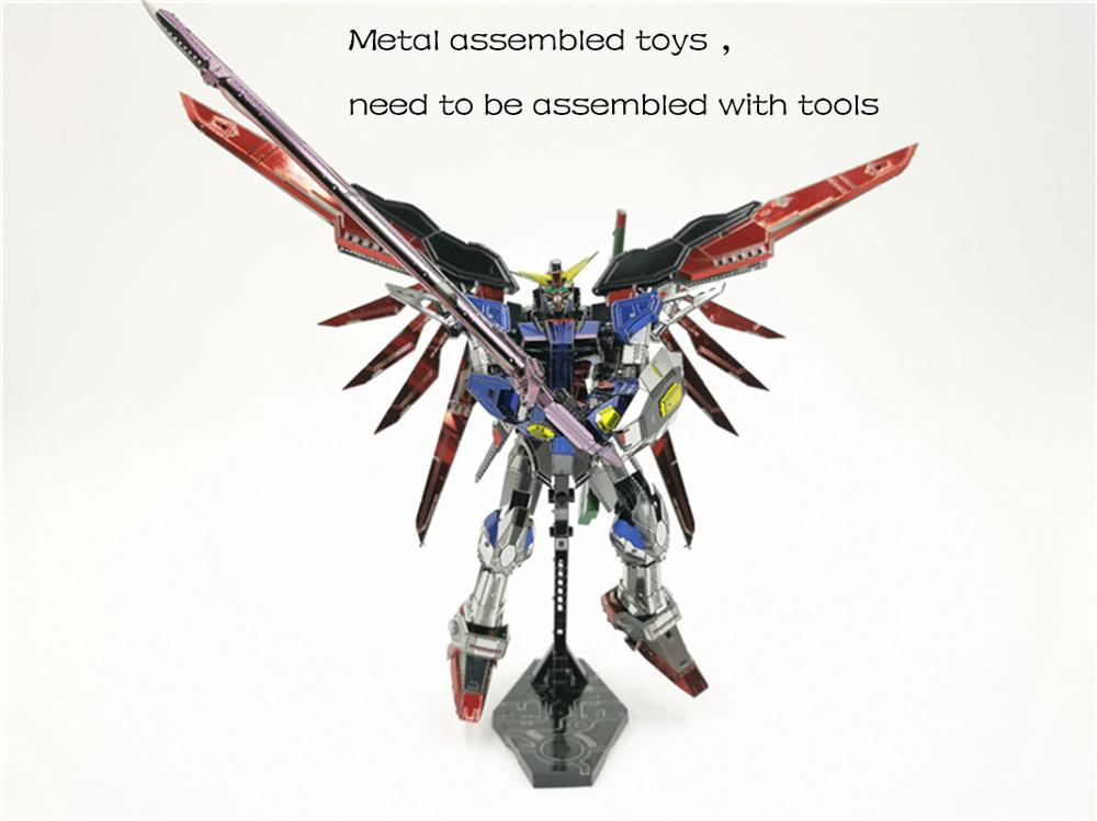 Robot Destiny Gundam 3D Metal Model Kits DIY Assemble Puzzle Jigsaw Building Toy For Gifts