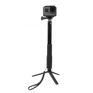 Image 5 - Aluminum Rubber Waterproof Selfie Stick,Extendable Handheld Monopod Adjustable Tripod for Gopro Hero 7 6 5 4 & YI 4K for DJI SJ
