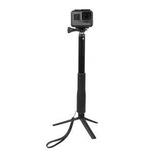 Image 5 - อลูมิเนียมยางกันน้ำ Selfie Stick, handheld Monopod ขาตั้งกล้องสำหรับ Gopro Hero 7 6 5 4 และ YI 4K สำหรับ DJI SJ